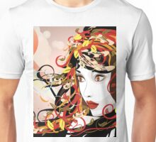 Autumn Girl face 3 Unisex T-Shirt