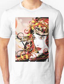 Autumn Girl face 3 T-Shirt