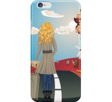 Autumn Landscape with Girl iPhone Case/Skin
