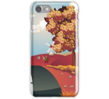 Autumn Landscape with Road iPhone Case/Skin
