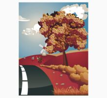 Autumn Landscape with Road Kids Clothes