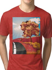 Autumn Landscape with Road Tri-blend T-Shirt