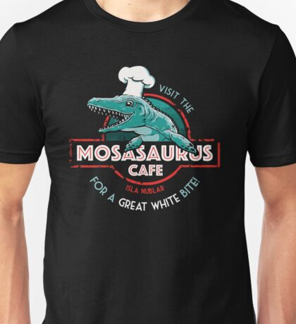 Visit the Mosasaurus Cafe Unisex T-Shirt