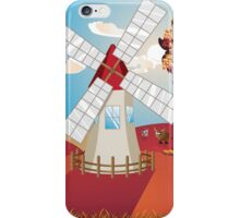 Autumn Landscape with Windmill iPhone Case/Skin