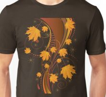 Autumn floral ornament with orange maple leaves Unisex T-Shirt