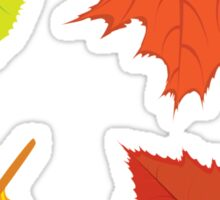 Colorful autumn leaves Sticker