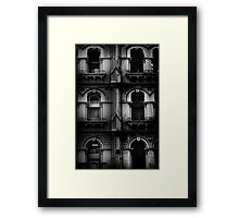 facade with windows Framed Print