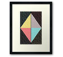 Cross diamonds - m2collab Framed Print