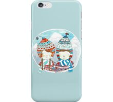 Winter hats mint iPhone Case/Skin