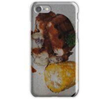 Barbecue Chicken and Corn iPhone Case/Skin