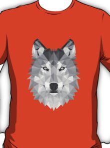 Geometric Wolf B&W T-Shirt