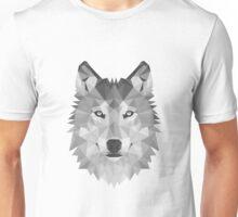Geometric Wolf B&W Unisex T-Shirt
