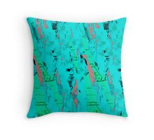 Collage in blue/35mm digitally manipulated Throw Pillow
