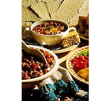 Chili with Cornbread Photographic Print