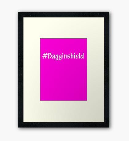#Bagginshield White Framed Print