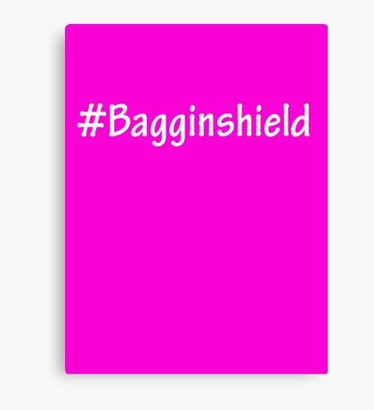 #Bagginshield White Canvas Print
