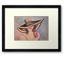 Baby..., Can I Leave my Hat on? Framed Print