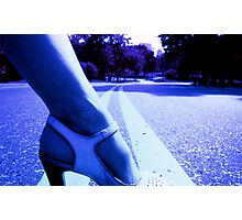 Infrared picture of foot and shoe Photographic Print