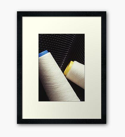 Cotton Yarn Coil Framed Print