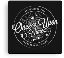 Once Upon A Time / TV / Badge Design Canvas Print