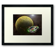 Pakistani Honeymoon Over Io Framed Print