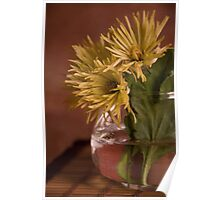 Yellow Chrysanthemums Poster