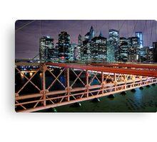 New York night. Canvas Print