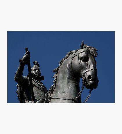 Pigeon atop Philip III atop horse, Plaza Mayor, Madrid Photographic Print