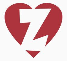 I love Z - Heart Z - Heart with letter Z Kids Clothes