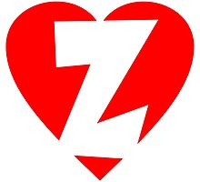 I love Z - Heart Z - Heart with letter Z by theshirtshops