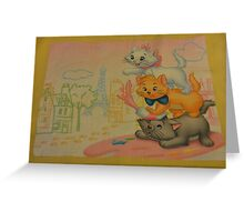 Disney Aristocats Marie Disney Cats Disney Kittens Greeting Card