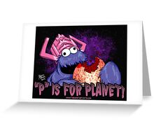 P is For Planet Greeting Card