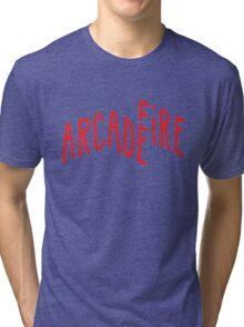 """""""Red Logo"""" of Arcade Fire Tri-blend T-Shirt"""