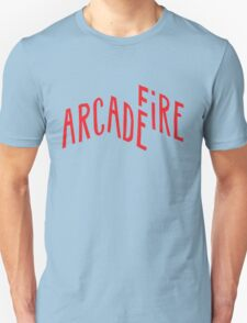 """Red Logo"" of Arcade Fire Unisex T-Shirt"