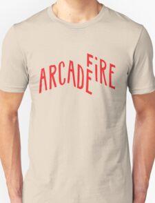 """Red Logo"" of Arcade Fire Unisex T-Shirt"
