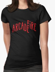 """Red Logo"" of Arcade Fire Womens Fitted T-Shirt"