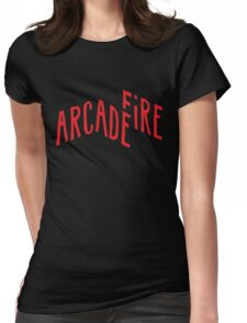 """""""Red Logo"""" of Arcade Fire Womens Fitted T-Shirt"""