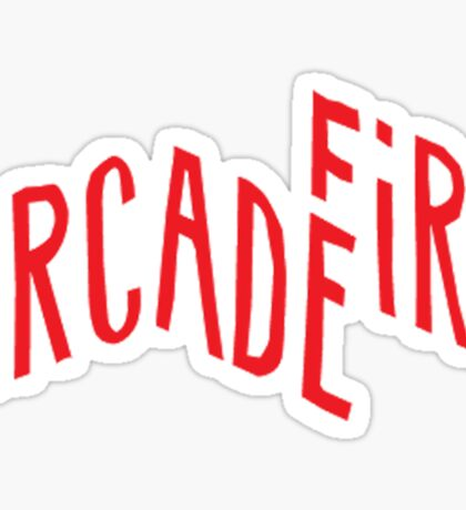 """Red Logo"" of Arcade Fire Sticker"