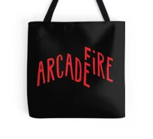 """""""Red Logo"""" of Arcade Fire Tote Bag"""