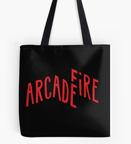 """Red Logo"" of Arcade Fire Tote Bag"