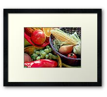 Healthy Fruit and Vegetables Framed Print