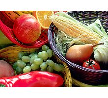Healthy Fruit and Vegetables Photographic Print