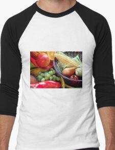 Healthy Fruit and Vegetables Men's Baseball ¾ T-Shirt