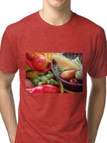 Healthy Fruit and Vegetables Tri-blend T-Shirt