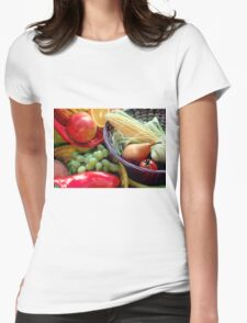 Healthy Fruit and Vegetables Womens Fitted T-Shirt