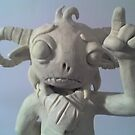 Plasticine Model Character Close Up by Laura McDonald