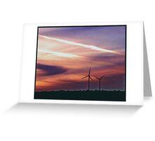 Urban Windmills Greeting Card