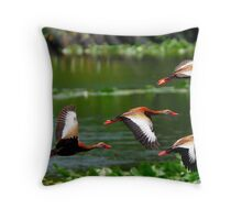 They Whistle When they Fly Throw Pillow