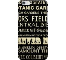 Denver Colorado Famous Landmarks iPhone Case/Skin