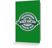 Rider Nation Green Ale Greeting Card